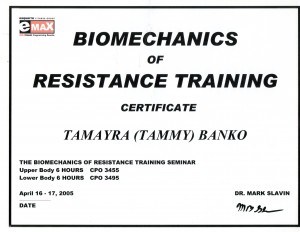 BioMechanics of Resistance Training