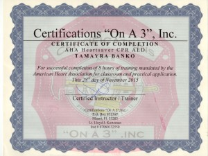 Cert CPR On-A-3