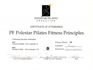 Polestar Pilates Fitness Principles
