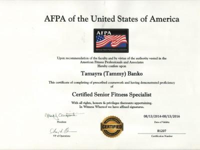 Senior Fitness Specialist